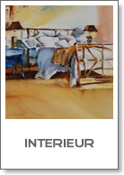 interieur, aquarel