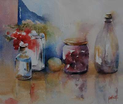 Glas schilderen techniek