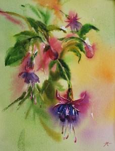 bloemsstilleven in aquarel